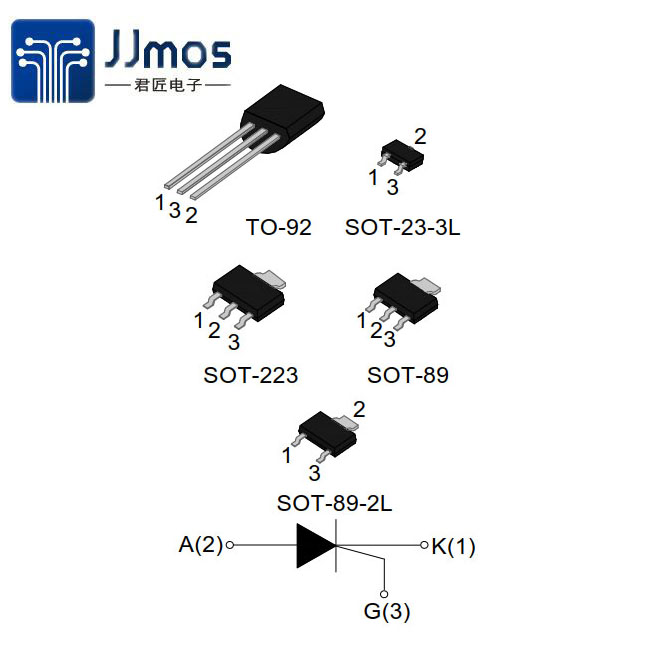100-8 Series 0.8A Sensitive SCRs